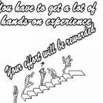 努力する人の姿(階段を登るイラスト)