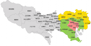 東京都市区町村の地図