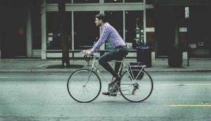 自転車通勤の写真