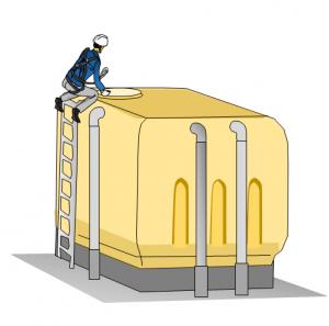貯水槽のイラスト
