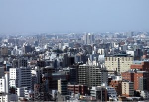都会のビル群の写真